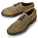 【クリアランス】サントーニ SANTONI 14484 ウイングチップ スエード ブラウン【ドレスシューズ 革靴 ビジネス メンズ】