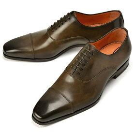 サントーニ SANTONI 15004 ストレートチップ ダークブラウン【ドレスシューズ 革靴 ビジネス メンズ】