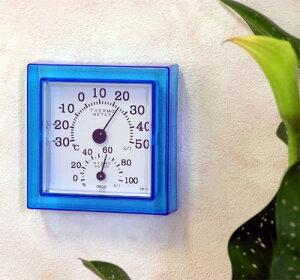 クレセルクリア・ミニ 温度計・湿度計CR-12-W/CR-12-B