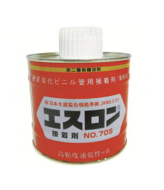 エスロン 配管用接着剤 高粘度タイプ No.70S 透明 500g