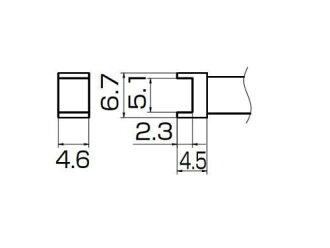 백광 (HAKKO) FX-950/951/952 형 흙 앞 T12 시리즈 터널 5.1 × 4.6 T12-1001
