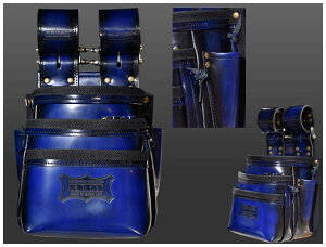 KNICKS(ニックス)ガラス革腰袋 ブルーADV-301DDX-BL
