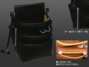 KNICKS(ニックス)総グローブ皮仕上腰袋フチ/総グローブ革テープ巻KB-301DDSP