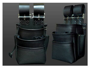 KNICKS(ニックス)自在型チェーンタイプ 総グローブ革3段腰袋 KB-301SPDX