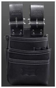 KNICKS(ニックス)総ヌメ革使用3段腰袋 KBS-301DDX