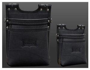 KNICKS(ニックス)ヌメ革2段建築用腰袋(バリスティック縁巻)KGB-201BA