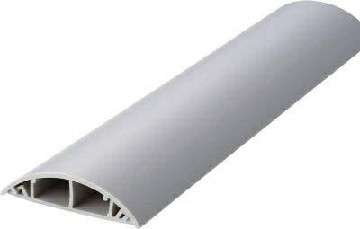 TRUSCO(トラスコ)ケーブル配線カバー(床用) 60幅×1m グレー