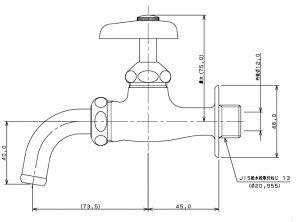 カクダイ万能ホーム水栓凍結防止つき13