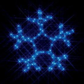 JEFCOMLEDイルミネーション LEDモチーフ(全点灯) 雪の結晶(特小・青)