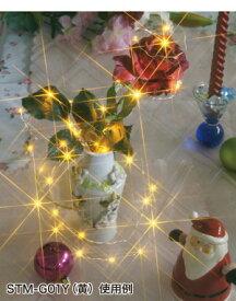 JEFCOM電池式卓上イルミネーション LEDミニストリングライト 黄色