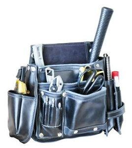 DBLTACT 本革釘袋 280×365×90mm ミゼットカッター&マーカーケース付き ブラック