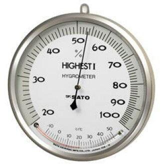 佐藤 (SATO 測量器) 高我鍵入 7540-00 濕度計溫度計