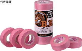 """カモ井 マスキングテープ""""BIG BOSS"""" 車両塗装用 20mm幅×18m長×0.08mm厚 ピンク 6巻き入"""