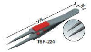 TRUSCO(トラスコ)ラバーグリップ付ピンセット 115mm (極細鋭型)(フッ素コートタイプ)