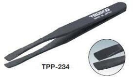 TRUSCO(トラスコ)プラスチック製ピンセット 120mm(先丸平型) TPP-234