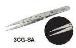 TRUSCO(トラスコ)耐酸耐磁ピンセットスイス トゥィーズ型 110mm(超極細型)
