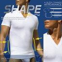2xist ツーイグジスト SHAPE 補正下着 スリミング Vネック Tシャツ シェイプアップウェア お腹 引き締め サポーター FORM SLIMMING V-NECK トップス インナー メンズ