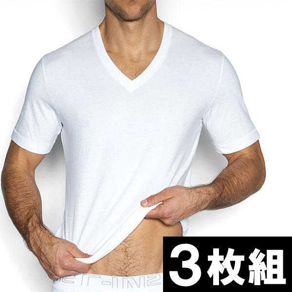 C-IN2 VネックTシャツ 半袖 3枚組みセット 肌着 インナーシャツ シーインツー C−IN2 CIN2 メンズ 男性下着 メンズ下着