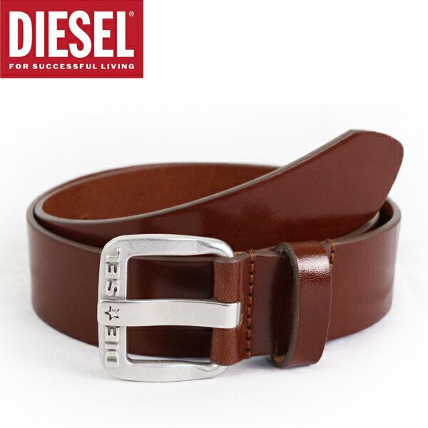 DIESEL ディーゼル ベルト レザーベルト 牛革 ミディアムブラウン B-STAR COW LEATHER BELT メンズ 男性 【diesel ディーゼル】