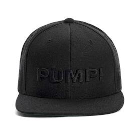 PUMP パンプ メンズ キャップ 帽子 ALL BLACK SNAPBACK CAP PUMP! Underwear
