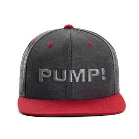 PUMP パンプ メンズ キャップ 帽子 CHARCOAL AND RED SNAPBACK CAP PUMP! Underwear