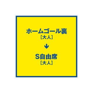 2018栃木SCシーズンパスポートアップグレード〈ホームゴール裏/大人〉→〈S自由席/大人〉