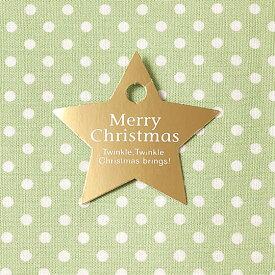 【メール便OK】 スリット式が使いやすい キラッと輝くクリスマスの星型タグ100枚入
