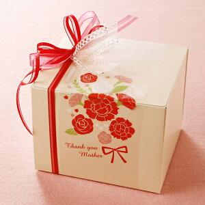 ThankyouMother カーネーションの花束がかわいい母の日の透明フィルムの掛紙100枚入プレゼント カーネーション ギフト スイーツ 鉢植え アレンジメント エプロン 母の日 プリザーブドフラワー