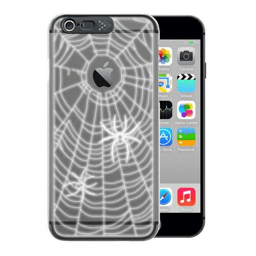 個数限定 iphone6plusケース アイフォンカバー スマホケース クリアケース 光るケース LEDフラッシュライト イルミネーションケース かっこいい i-Clear イルミネーションケース Spider Black