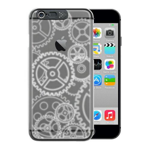 個数限定 iphone6plusケース アイフォンカバー スマホケース クリアケース 光るケース LEDフラッシュライト イルミネーションケース かっこいい i-Clear イルミネーションケース Gear Black