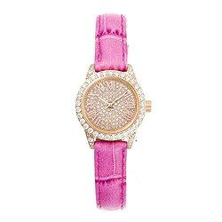 大人気FACEAWARDフェイスアワード腕時計watchSWAROVSKIスワロフスキーキュービックジルコニアライトイエローゴールドケースウォッチFA006S2Grace-PLG/LG/YEL本革ベルト女子に人気アクセサリーカジュアルプレゼントに高級感