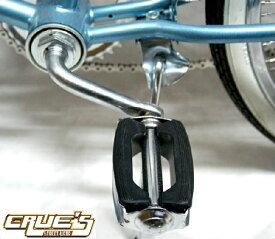 送料無料 自転車 パーツ クレートペダル クローム 1/2インチ ペダル ローライダー ビーチクルーザー アクセサリー 自転車部品 カスタム 部品 改造 BMX MTB ママチャリ サイクルパーツ ローライダー自転車 エレクトラ レインボー コンプトン