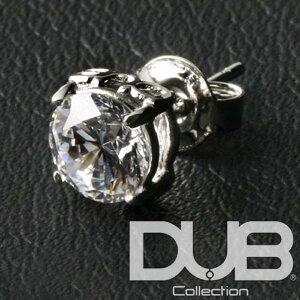 送料無料 DUB ジュエリー ピアス 0.5カラット ホワイト キュービック ジルコニア 0.5ct 148-2 メンズ レディース ダブジュエリー シルバー アクセサリー リング 指輪 Safiri サファリ LEON レオン 雑