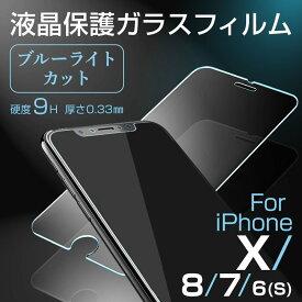 iPhone ガラスフィルム iPhoneX iPhone8 iPhone7 iPhone6 モノケース 強化ガラスフィルム