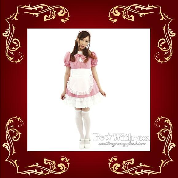 アキバ系萌えコスプレ メイドさん ピンク×ホワイト
