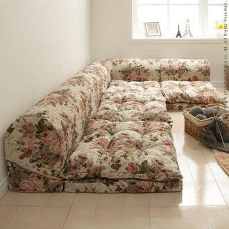 Free-style low sofa RelaQua [リラクア] Gobelin tapestry pattern floor sofa living sofa corner sofa