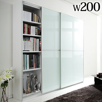 Large Sliding Doors Living Board Salone Width 200 Cm Room Storage Cabinets Door Sideboard Bookcase Bookshelf Wall Mirror