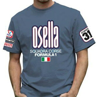 OSELLA Mens T-shirt重新流行F1 T恤