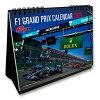 2020F1速報卓上カレンダー13枚綴り(両面印刷)グランプリ開催ステッカー付き1点