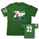 7UP Jordan 191 Gachot Mens T-shirt レトロ F1 Tシャツ