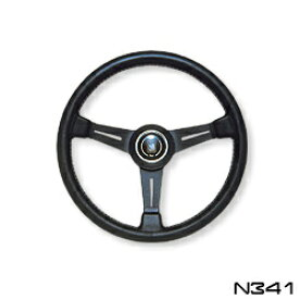 NARDI ナルディ ステアリング CLASSIC クラッシック ブラックレザー&ブラックスポーク 340mm (N341)