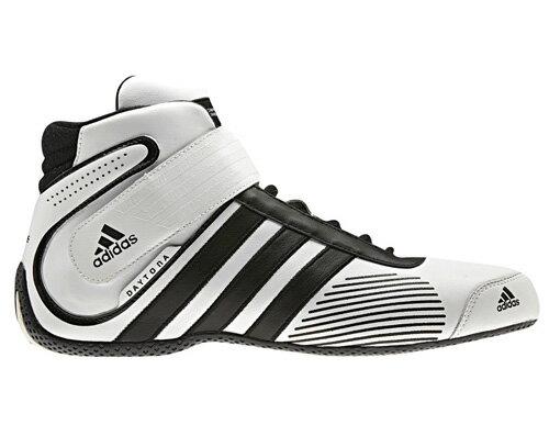 adidas アディダス DAYTONA デイトナ レーシングシューズ WHITE×BLACK FIA8856-2000公認 (Q34803)