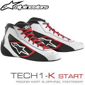 アルパインスターズ レーシングシューズ TECH1-K START ホワイト×ブラック×レッド(213) レーシングカート・走行会用 (2711518-213)