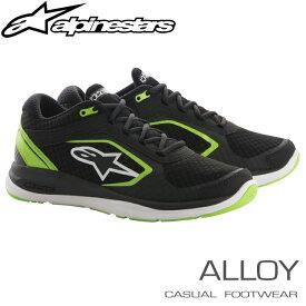 アルパインスターズ カジュアルシューズ ALLOY ブラック×グリーン (16) スポーツ/トレーニングシューズ (2654018-16)
