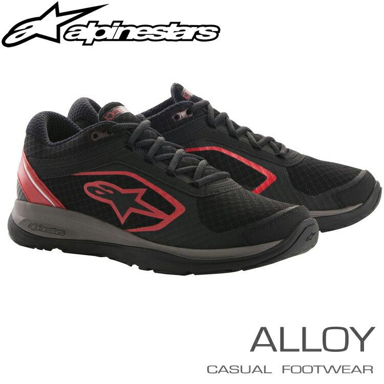アルパインスターズ カジュアルシューズ ALLOY ブラック×レッド (13) スポーツ/トレーニングシューズ (2654018-13)