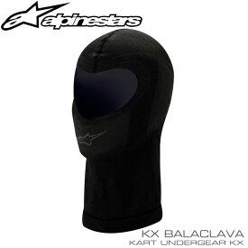 アルパインスターズ KX フェイスマスク ブラック 1ホール レーシングカート・走行会用