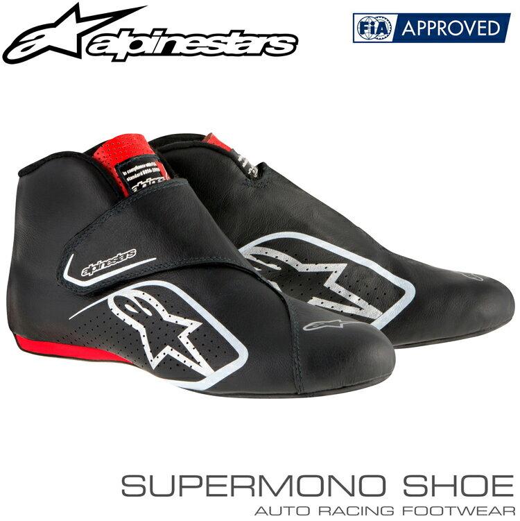 アルパインスターズ レーシングシューズ SUPERMONO SHOES ブラック×レッド(13) FIA8856-2000公認モデル
