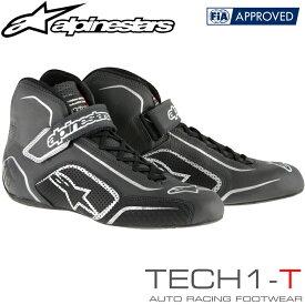 2015-18モデル アルパインスターズ レーシングシューズ TECH1-T ブラック×アンスラサイト (104) FIA8856-2000公認モデル (2710015-104)