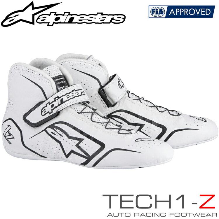 2015-18モデル アルパインスターズ レーシングシューズ TECH1-Z ホワイト×ブラック (21) FIA8856-2000公認モデル (2715015-21)