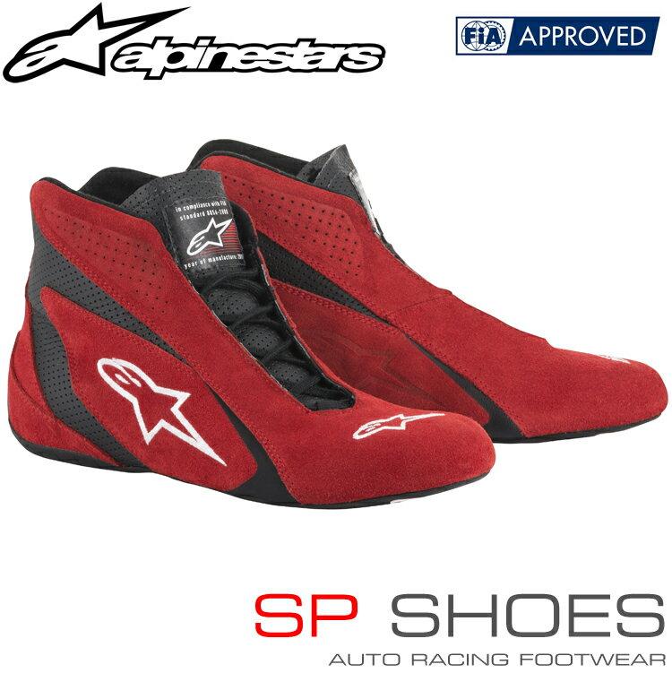 アルパインスターズ レーシングシューズ SP SHOES レッド×ブラック(31) FIA8856-2000公認モデル (2710518-31)